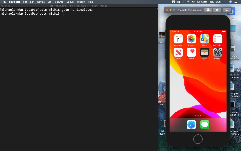 iOS Simulator über Terminal öffnen